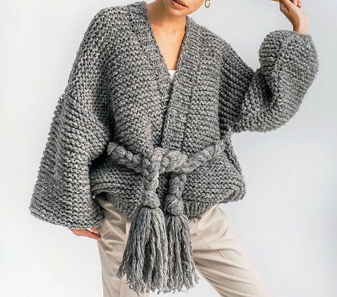Oversize Cardigan Braids Madrid - Handmade