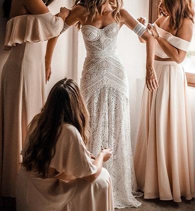 Robe de mariée bohème en dentelle Kenya