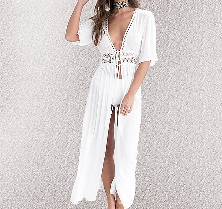 Blouse Robe de Plage Blanche Gypsy