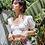 Thumbnail: Crop top brodé Blanc Romance is not dead