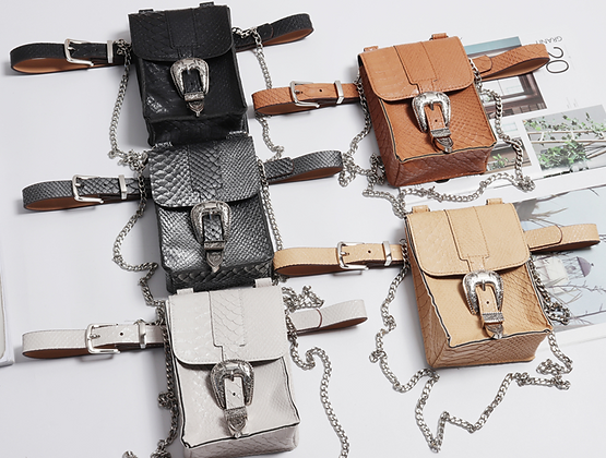 Le sac ceinture Rock'n'roll Croco' PU cuir handbag PU leather style fashion asos festigals festival dolls kill