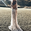 PREMIUM Robe blanche ajourée Dos nu Crystal