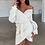 Robe Pull blanche Selena missguided asos zara festigals knitted pullover dress