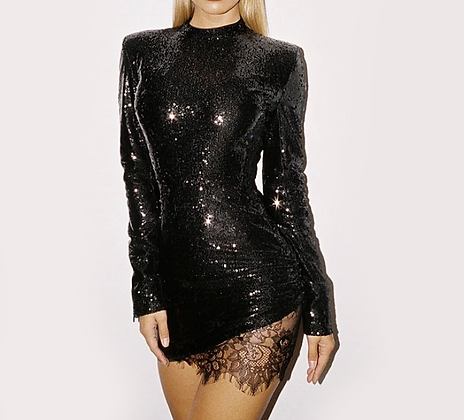 Robe Dos Nu Sequins Nouvel an house of cb style zara asos robe noire