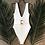 Maillot de bain Une pièce côtelé Écru Manggo ceinture marbre 2019 bikini festigals soldes
