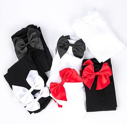 Chaussettes hautes sexy avec nœuds ruban déguisement femme party costume lingerie asos festigals
