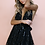 Combishort Dos Nu Sequins Casablanca Noir EMBELLISHED NIGHT NYMPH - MULTIWAY MINI DRESS sisters the label