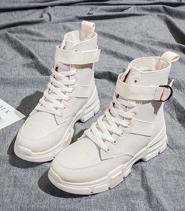 Sneakers Bottines PU Cuir Toile Nasty sarenza bershka zara asos festigals vinted soldes france 2021 baskets nike
