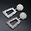 Boucles d'oreilles Géométriques Diamonds zara style festigals bijoux de fêtes 2019