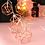Guirlande Lumineuse Hexagones Cuivre pour mariage décoration restaurant déco pas cher
