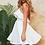 Robe d'été Blanche Volantée Charlotte white summer ruffles backless dress festigals zara asos 2019