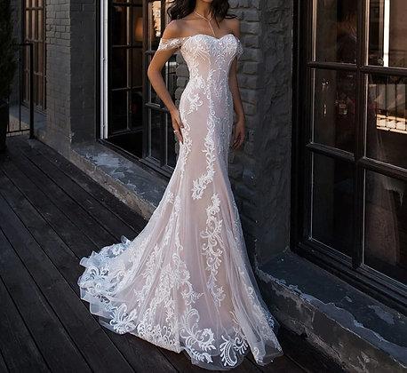 Robe de mariée Bustier Sirène Nakee