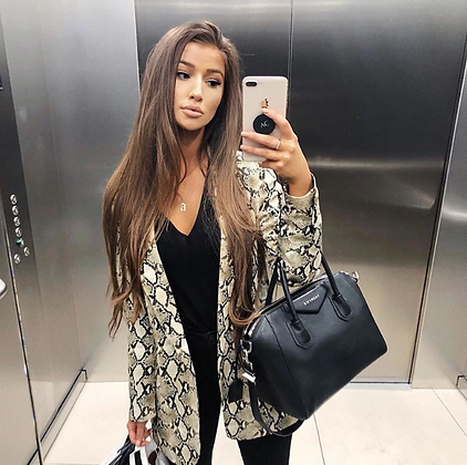 Veste Blazer Imprimé Serpent Snake Blazer Blouse Winter 2018 trendy tendances
