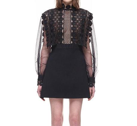 PREMIUM Robe Haute Couture Noire Dentelle
