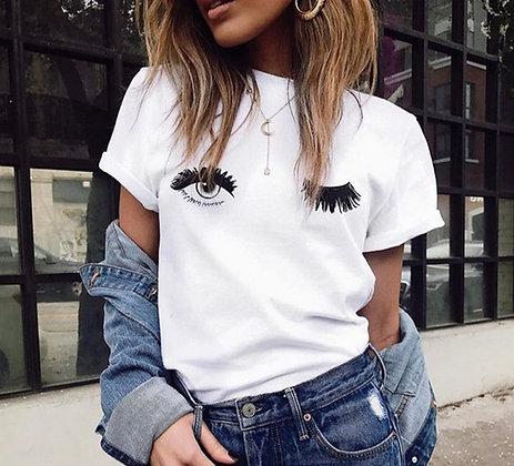 T-shirt Blanc Eyeslashes