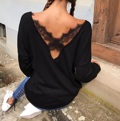 T-shirt manches Longues Crossed Lace