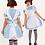 Déguisement Alice au Pays des Merveilles Adulte Costume party halloween Alice in wonderland livraison gratuite soldes