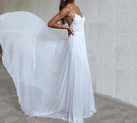 PREMIUM Longue Robe de mariée bohème Chic