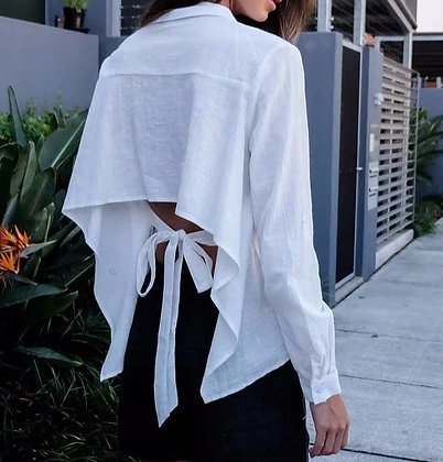Blouse Chemise Dos à Nouer Edelweiss