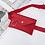 Pochette Enveloppe Ceinture à ajuster avec anneau argenté sac à main banane Cercle