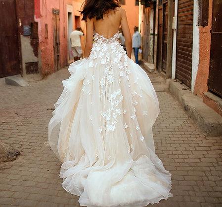 Robe de mariée Florale Dos nu Lizzie