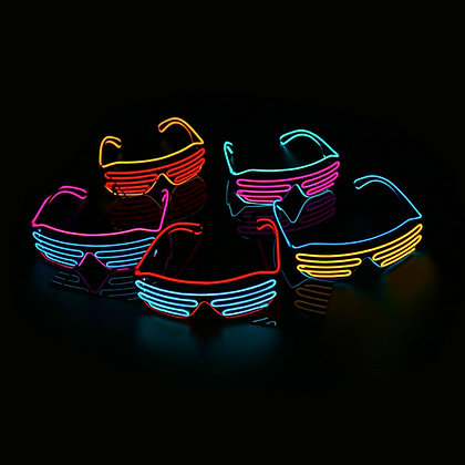 Lunettes Halloween LED Neon Party Festival costume déguisement glasses LED connected