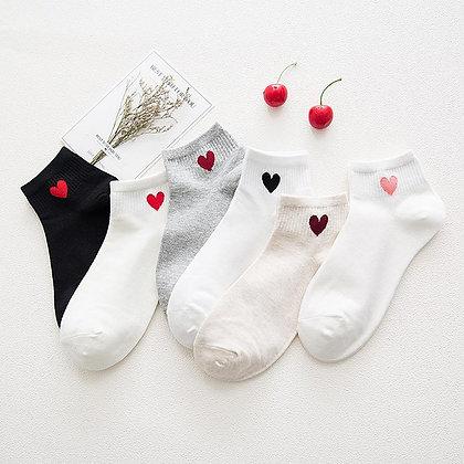 Chaussettes Courtes Coeur