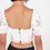 Thumbnail: Crop top embroidered White Romance is not dead