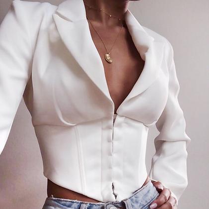 Veste courte Blanche So Luxx house of cb style zara 2019 codes promos festigals
