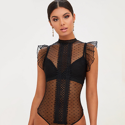 Body transparent à Pois Karina Pretty little thing code promo festigals asos