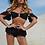 Maillot de bain bikini noir Léonie vintage tille haute festigals zara asos vinted soldes tanga fesses cachées