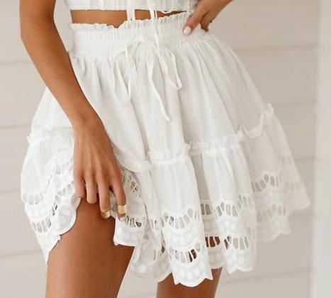 Jupe d'été ajourée blanche vintage storets style @jodielapetitefrenchie jupe asos jupe zara 2019 festigals