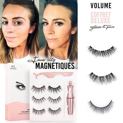 Coffret DELUXE Faux Cils magnétiques eyeliner clubbing sephora nyx kiko bio maquillage fêtes