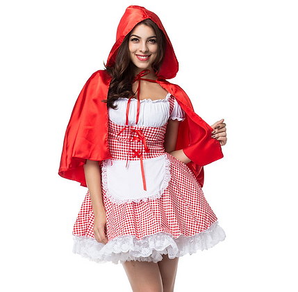 Déguisement Petit Chaperon Rouge Carreaux Costume Little ridding hood adult cheap party 2019 festival festigals asos