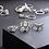 Set 13 Bagues Argentées Elephant Heart silver rings boho ethnic 2019 jewelry bijoux