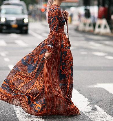 Robe Maxi Girafes Ethnic Valentina