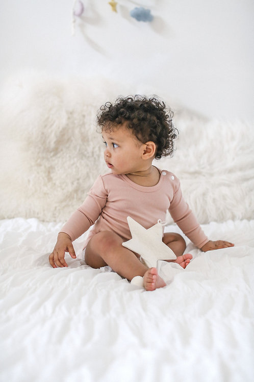 Organic Cotton Bodysuit Rose