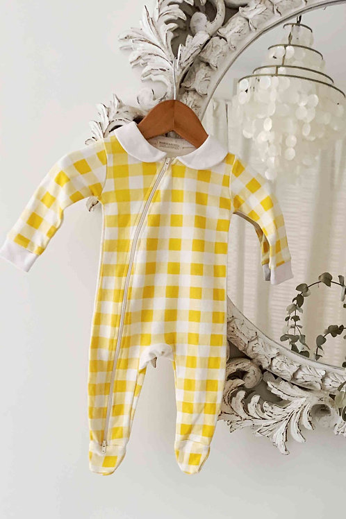 Peter Pan Jumpsuit - Golden Plaid