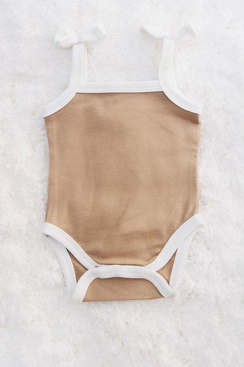 Caramel Ballerina Bow Bodysuit