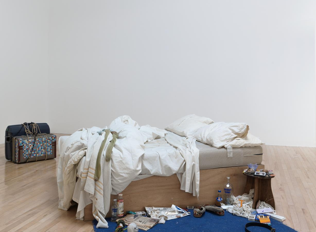 "Tracey Emin, ""My bed"", 1998. Courtesy of Tate and the artist © Tracey Emin"