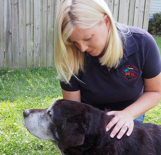 blair bear outdoors checking throat (1).