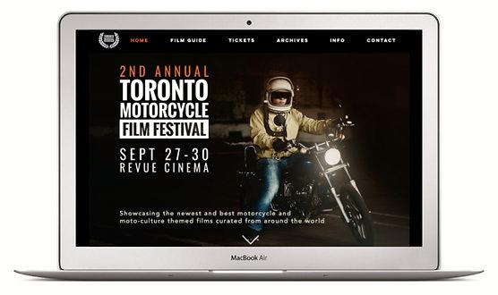TMFF Website on MacBook Air