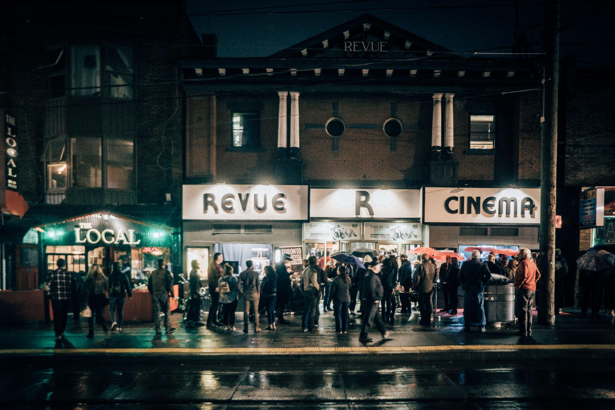 Outside the Revue Cinema