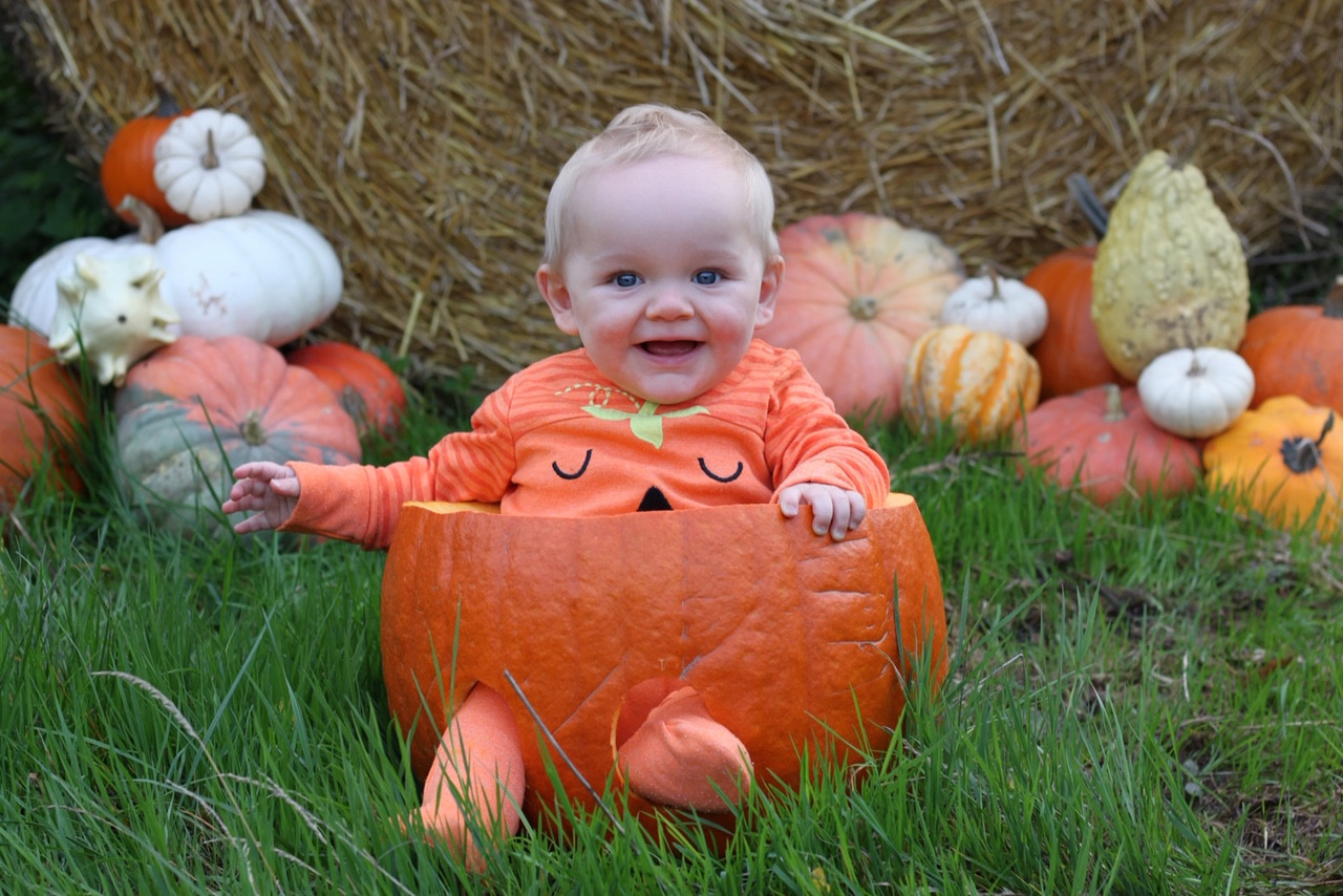One Of Our Giant Pumpkins Used In A Baby Photoshoot