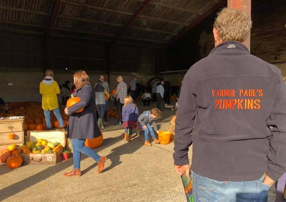 The Pumpkin Barn Full of Happy Customers