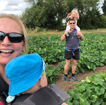 The Whole Family Out Checking The Crop