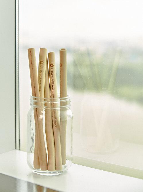 Ống hút tre có khắc thông điệp môi trường/ Bamboo Straw with Messages