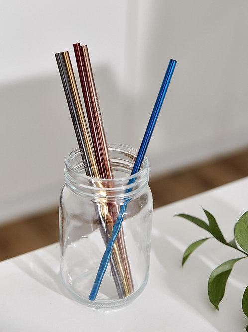 Ống Hút Kim Loại Thẳng (Nhiều Màu) / Metal Straw Straight (Muti Colors)