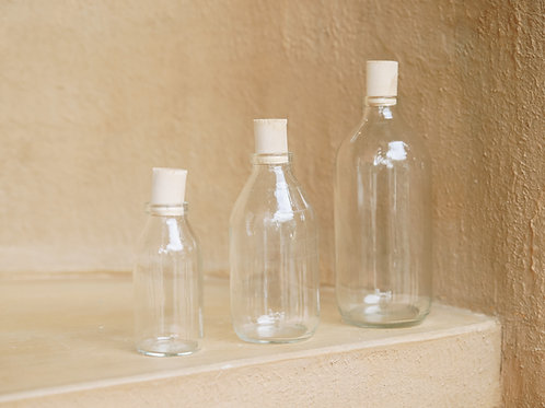 Thuỷ Tinh Nắp Bần / Glass Bottle with Cork Cover / 3 Sizes