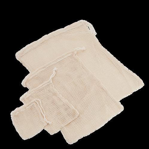Túi lưới đi chợ - 100% cotton / Reusable Produce 100% Cotton Mesh Bag
